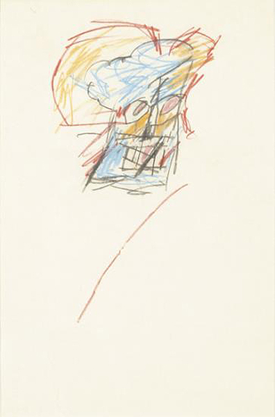 Jean-Michel Basquiat-Untitled (Face, Re Line)-1986