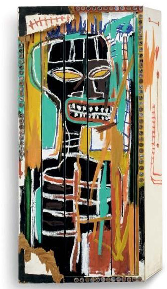Jean-Michel Basquiat-Untitled (Face on Box)-1985