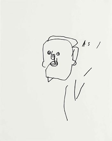 Jean-Michel Basquiat-Untitled (Faces)-1980