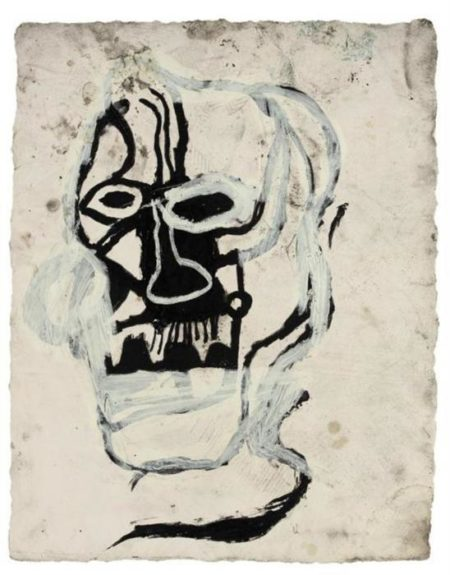Jean-Michel Basquiat-Untitled (Fading Ghost)-1983