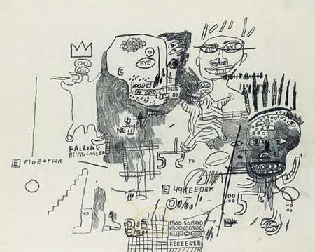 Jean-Michel Basquiat-Untitled (Falling)-1986