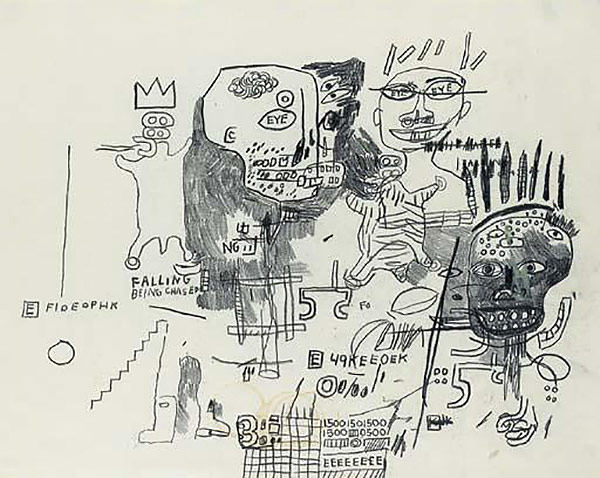Jean-Michel Basquiat-Untitled (Falling)-1986