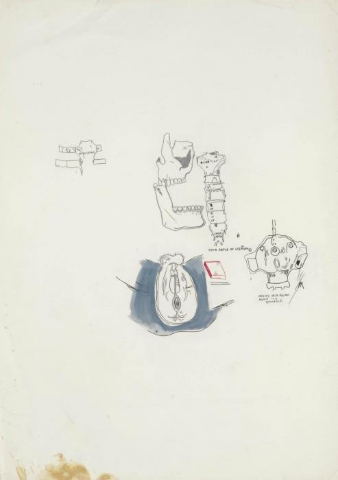 Jean-Michel Basquiat-Untitled (Female Crutch)-1987