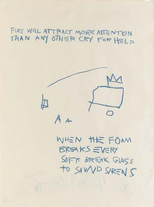 Jean-Michel Basquiat-Untitled (Fire Will Attract.)-1981