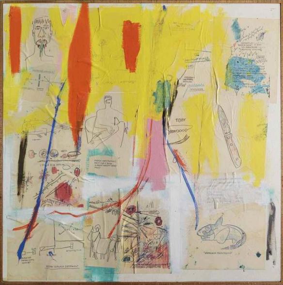 Jean-Michel Basquiat-Untitled (Fish in Corner)-1984