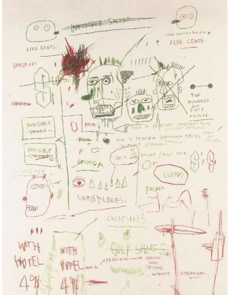 Jean-Michel Basquiat-Untitled (Five Cents, Golf Shoes)-1983