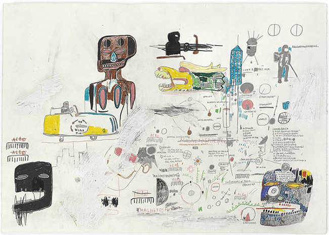 Jean-Michel Basquiat-Untitled (Flying Chaos)-1983