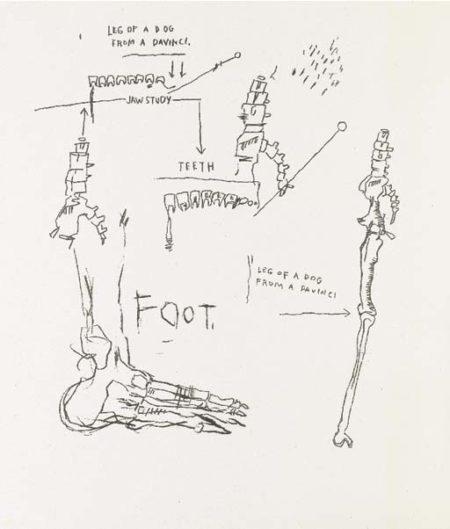 Jean-Michel Basquiat-Untitled (Foot)-1983