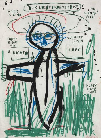 Jean-Michel Basquiat-Untitled (Forty Six, Forty Five)-1983