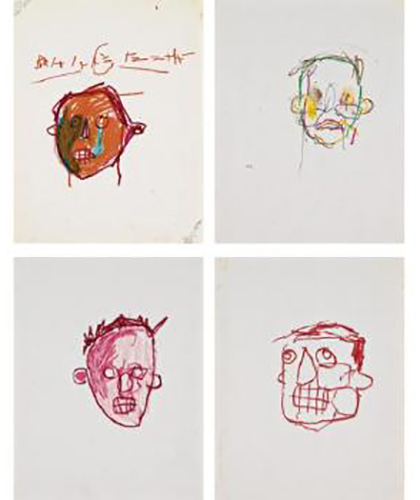 Jean-Michel Basquiat-Untitled [Four Works]-1980