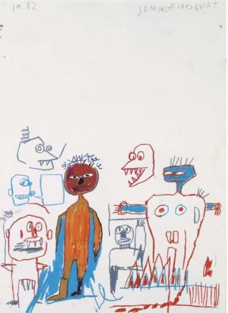 Jean-Michel Basquiat-Untitled (Gathering)-1982