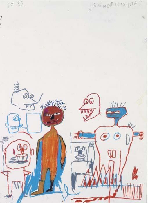 Jean-Michel Basquiat-Untitled (Gathering)-1982