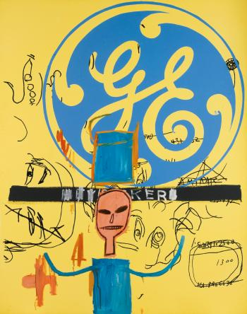 Jean-Michel Basquiat-Untitled (General Electric II)-1984