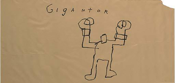 Jean-Michel Basquiat-Untitled (Gigantor)-1981