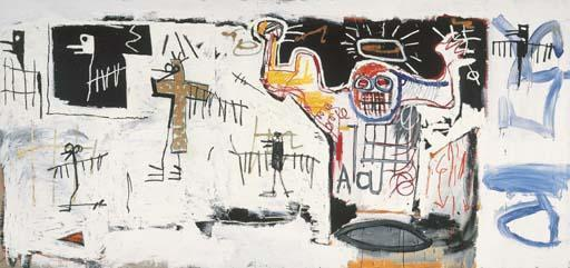 Jean-Michel Basquiat-Untitled (Gold Cross)-1982