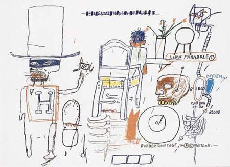 Jean-Michel Basquiat-Untitled (H, Link Parabole)-1983