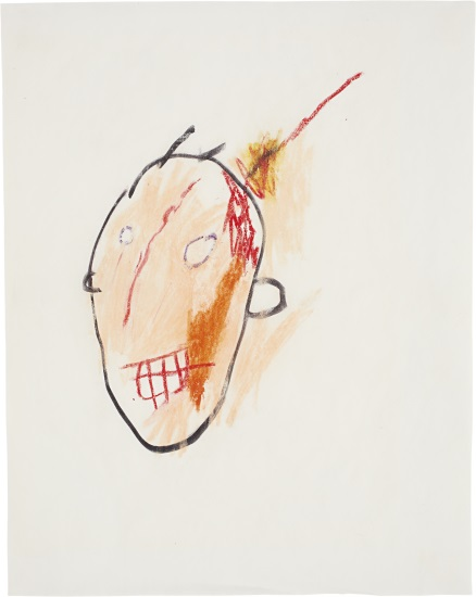 Jean-Michel Basquiat-Untitled (Head 1)-1981