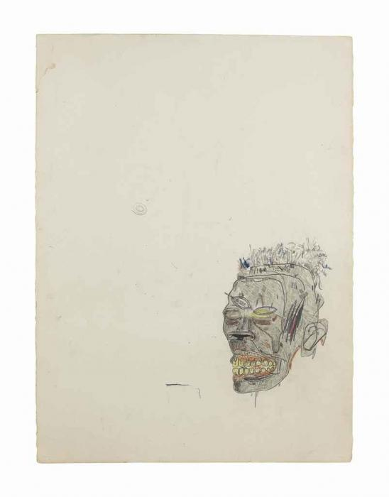 Jean-Michel Basquiat-Untitled (Head 2)-1980