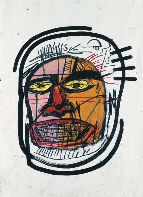 Jean-Michel Basquiat-Untitled (Head Wrapped)-1982