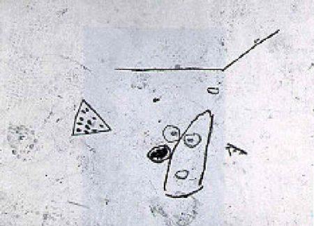 Jean-Michel Basquiat-Untitled (Head and Watermelon)-1987
