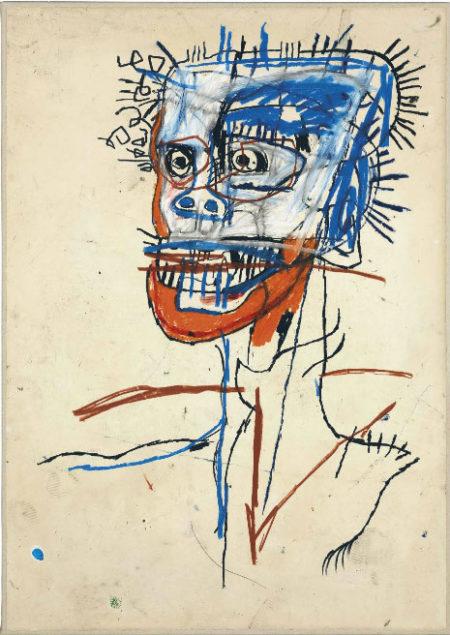 Jean-Michel Basquiat-Untitled (Head of Madman)-1982
