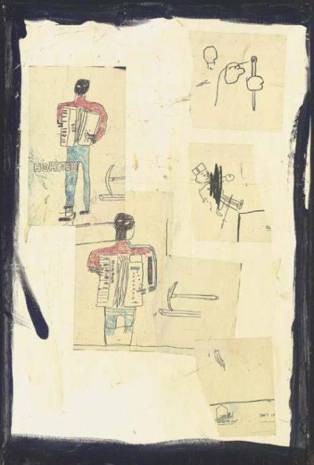 Jean-Michel Basquiat-Untitled (Hohner Harmonica)-1985