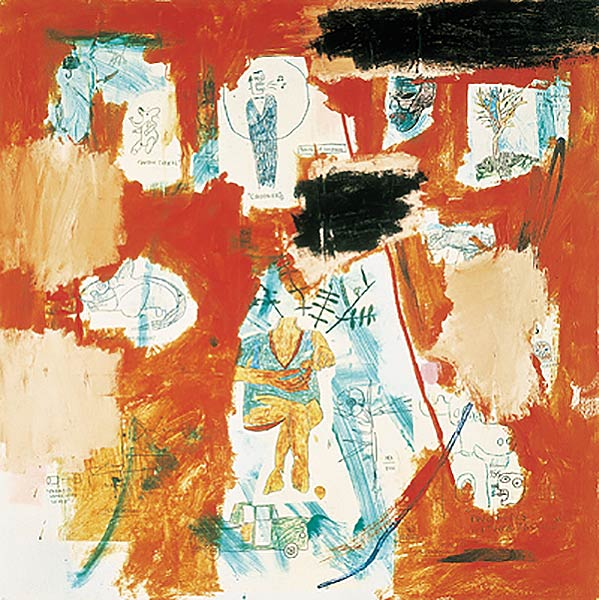 Jean-Michel Basquiat-Untitled (Hotel #58)-1984