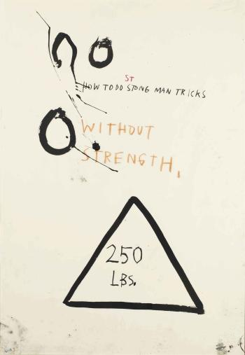 Jean-Michel Basquiat-Untitled (How to do Strong Man Tricks Without Strength)-1982