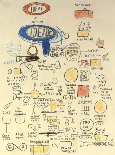 Jean-Michel Basquiat-Untitled (Ideal Ideal)-1987
