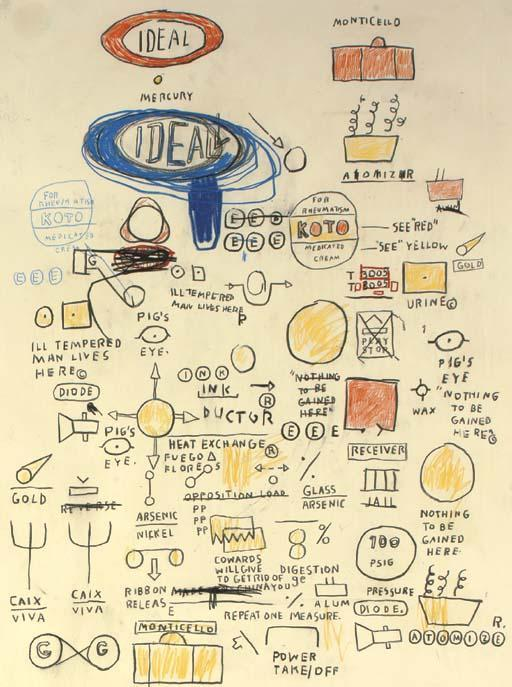 Jean-Michel Basquiat-Untitled (Ideal Ideal)-1987