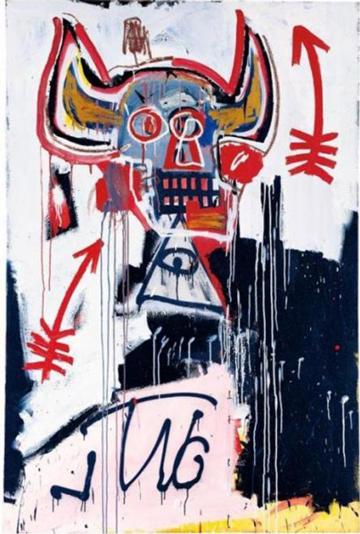 Jean-Michel Basquiat-Untitled (Illuminati Eye)-1982