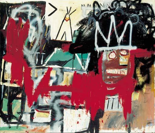 Jean-Michel Basquiat-Untitled (Indian Tent)-1981