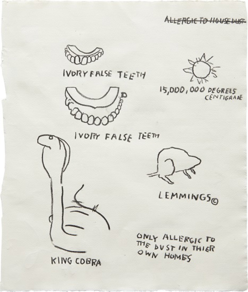 Jean-Michel Basquiat-Untitled (Ivory False Teeth)-1987