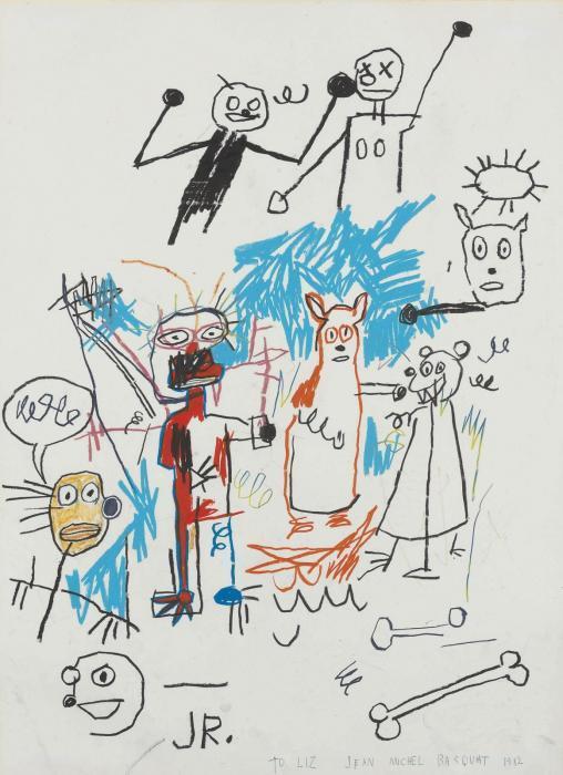 Jean-Michel Basquiat-Untitled (JR. Fight)-1982