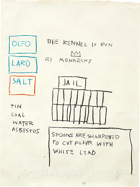 Jean-Michel Basquiat-Untitled (Jail)-1981