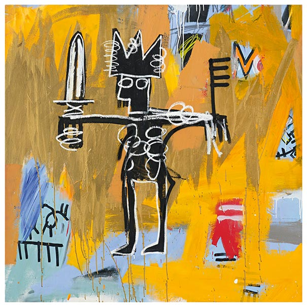 Jean-Michel Basquiat-Untitled (Julius Caesar On Gold)-1981