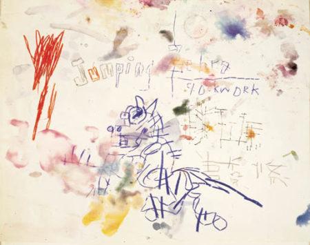 Jean-Michel Basquiat-Untitled (Jumping Zebra)-1981