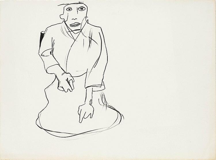 Jean-Michel Basquiat-Untitled (Karate III)-1983
