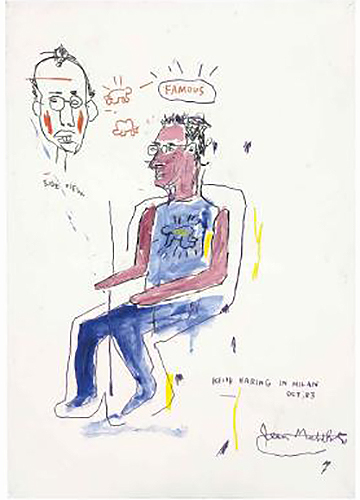 Jean-Michel Basquiat-Untitled (Keith Haring)-1983