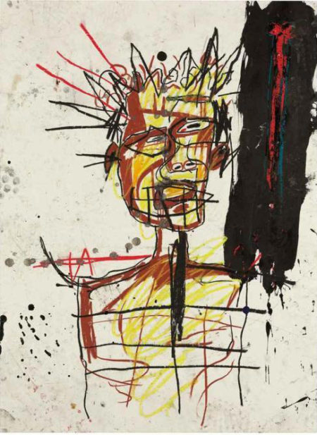Jean-Michel Basquiat-Untitled (King, Black Stain)-1982