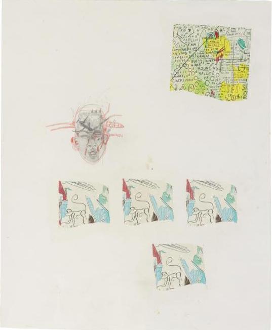 Jean-Michel Basquiat-Untitled (Knife Through Head)-1985