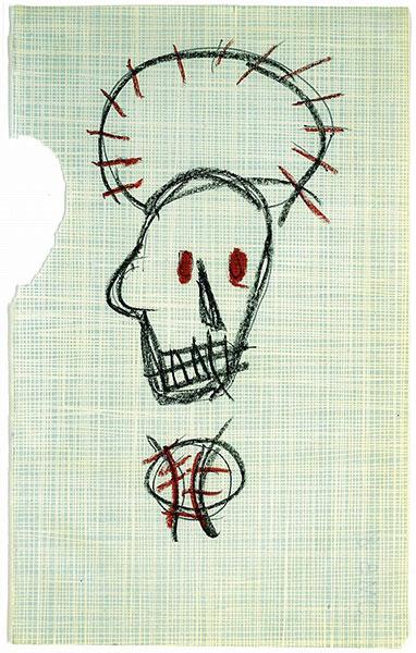 Jean-Michel Basquiat-Untitled (Lamp Head)-1981
