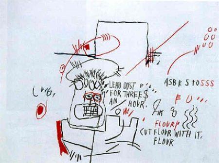 Jean-Michel Basquiat-Untitled (Lead Dust...)-1982