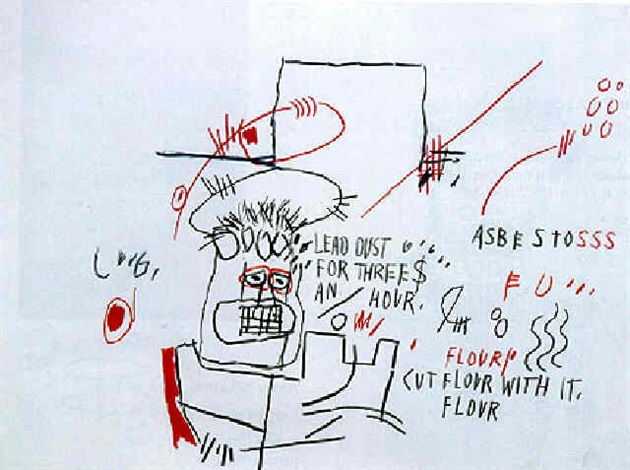 Jean-Michel Basquiat-Untitled (Lead Dust...)-1982