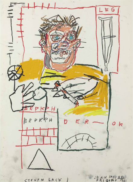 Jean-Michel Basquiat-Untitled (Portrait of Steven Lack)-1981