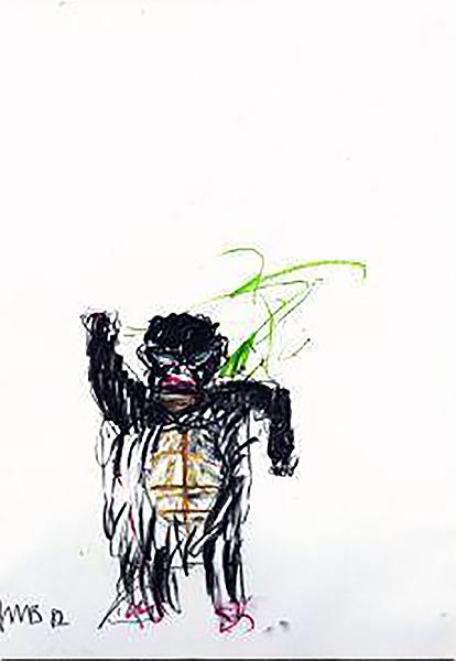 Jean-Michel Basquiat-Untitled (Little Black Turtle)-1982