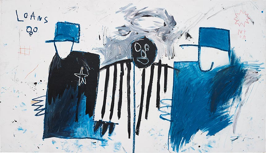 Jean-Michel Basquiat-Untitled (Loans)-1981