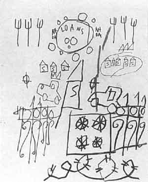 Jean-Michel Basquiat-Untitled (Loans, S House)-1980