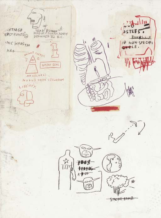 Jean-Michel Basquiat-Untitled (Lungs and Intestants)-1983