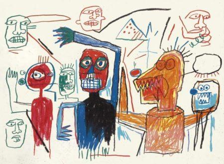 Jean-Michel Basquiat-Untitled (Many Figures)-1982